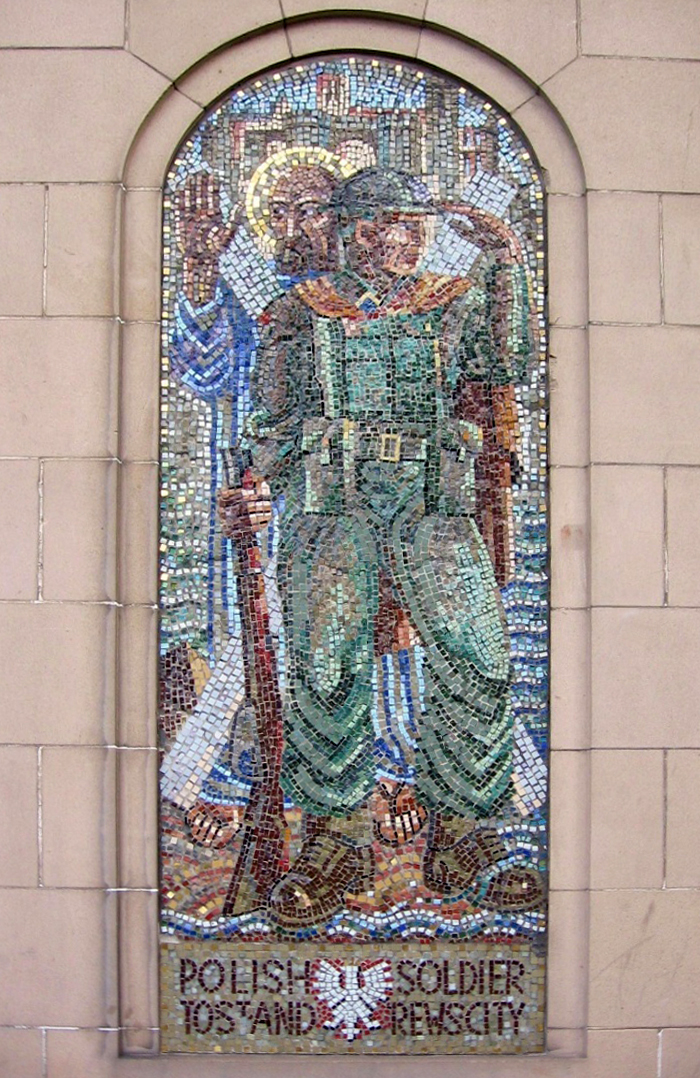 The mosaic on the town hall in St Anrews